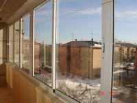 Остекление балкона прямого алюминевого 6-ти метрового с монт.
