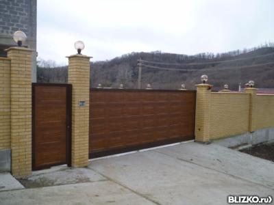 Автоматические ворота казань раздвижные самодельные ворота из профнастила видео