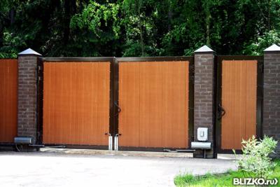 Автоматические ворота распашные казань оригинальные ворота фото из профнастила