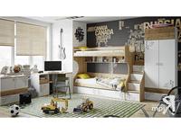 """Мебель для детской """"Оксфорд"""" (Ривьера, Белый с рисунком)"""